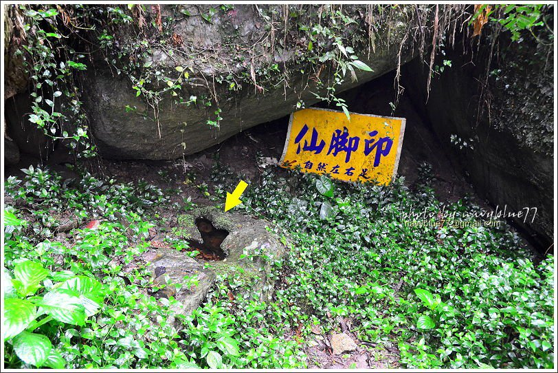 ↑仙腳印應該是一個水蝕石穴,但水蝕的凹痕成為一個有趣的傳說。