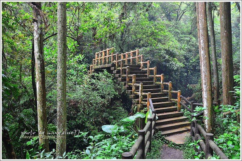 ↑由五叉路口續往拱橋前進,拱橋跨越出水溪,造型很別緻。