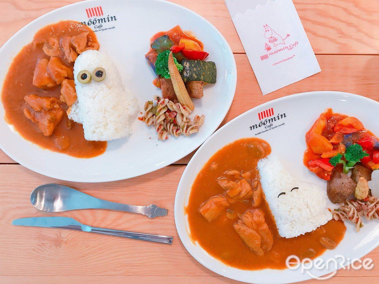 ▲Moomin家族成員角色融入各項餐點設計