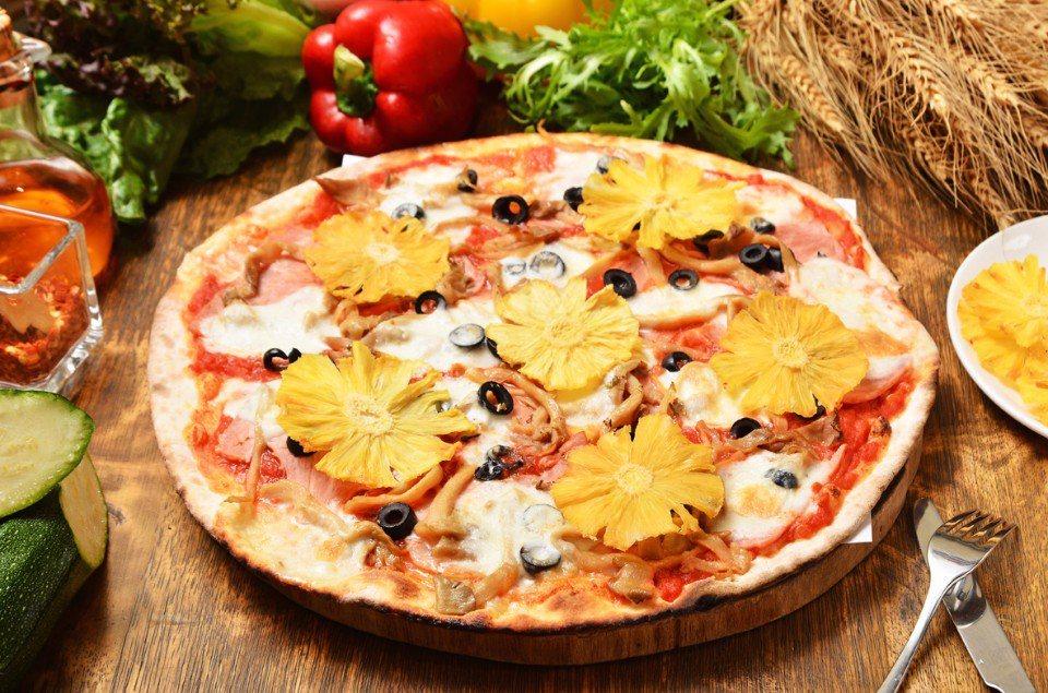 夏威夷披薩(羅馬披薩)NT$450/有別於其他夏威夷披薩,在歐奇使用的是南投的「...