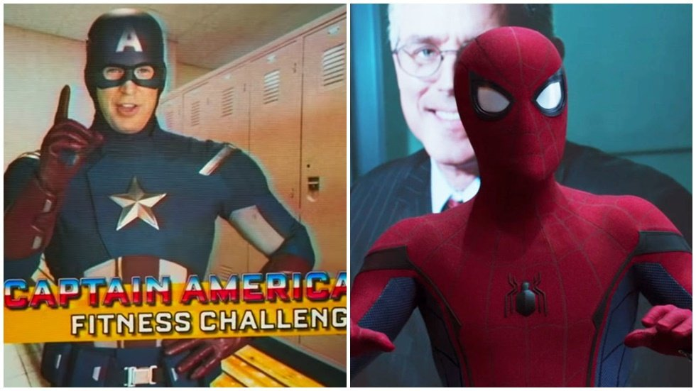 美國隊長在「蜘蛛人:返校日」有多支宣傳影片。圖/索尼提供
