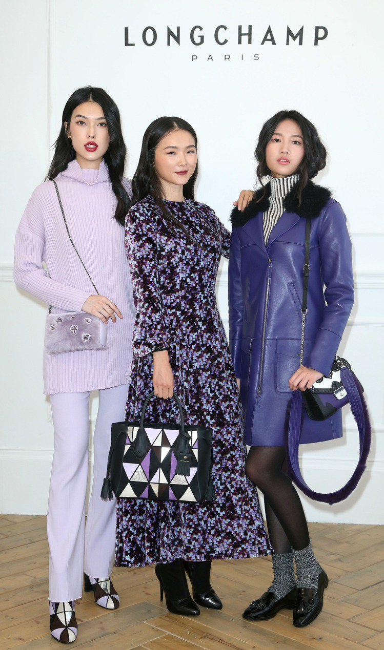 金禧(中)出席Longchamp秋冬發表。圖/記者陳瑞源攝影