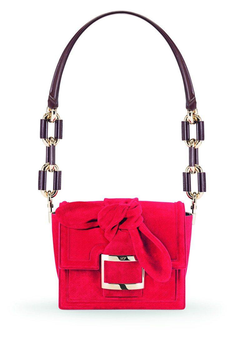 Square Buckle裝飾Viv Bow蝴蝶結包款,10萬3,200元。圖/...