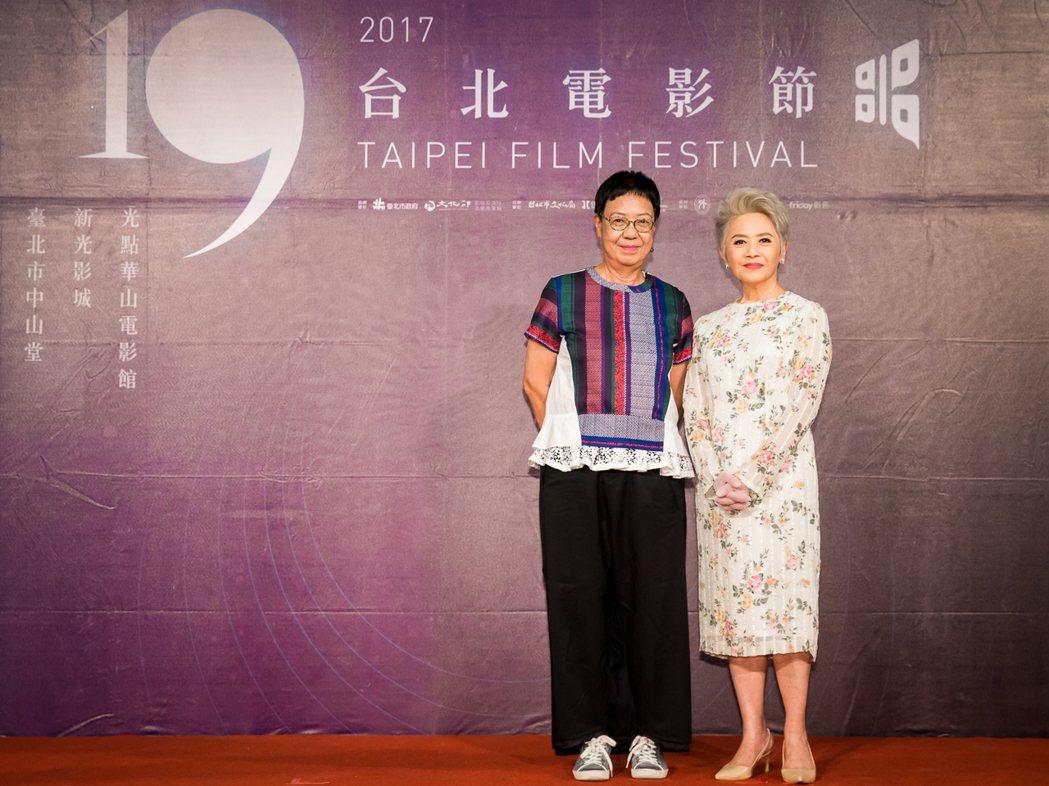 導演許鞍華與女星葉德嫻出席台北電影節記者會。圖/台北電影節提供