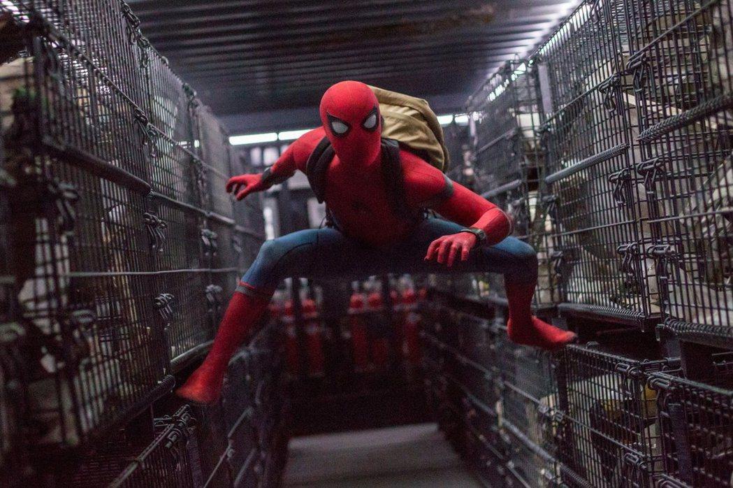 「蜘蛛人:返校日」台灣上片首日票房勇奪冠軍。圖/索尼提供