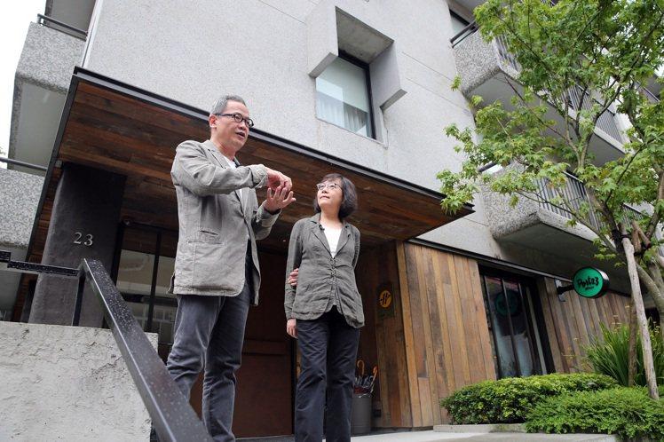 「富藝旅」是郭旭原與黃惠美夫妻檔首件老屋改造案。圖/記者許正宏攝影