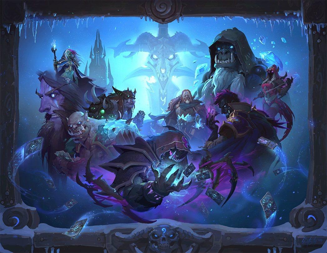 《爐石戰記®》全新資料片《冰封王座™》將帶領玩家前往北裂境,與巫妖王交鋒,登上冰...