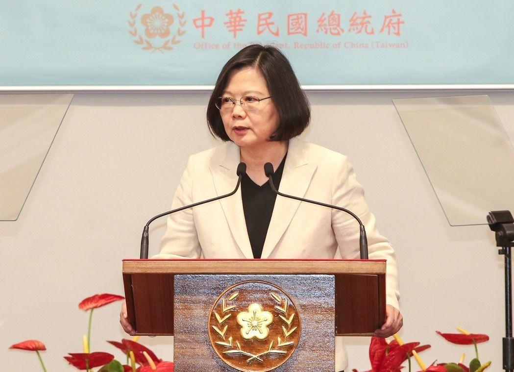 蔡英文總統。 聯合報系資料照/記者鄭清元攝影