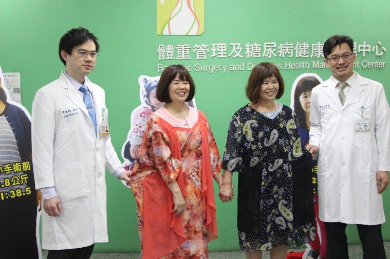 簡家雙胞胎姊妹體重原本逼近100公斤,前後減重近30公斤。記者林敬家/攝影