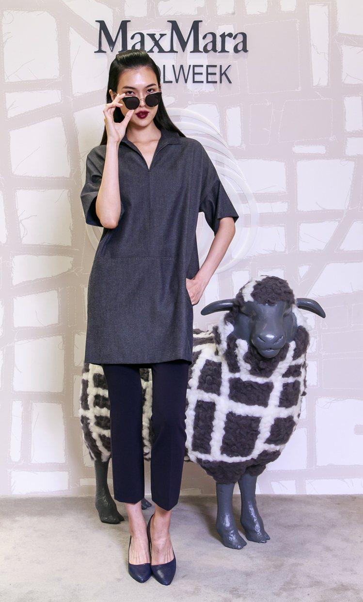 王思偉詮釋Max Mara與美麗諾綿羊合作的Wool Denim系列襯衫洋裝27...