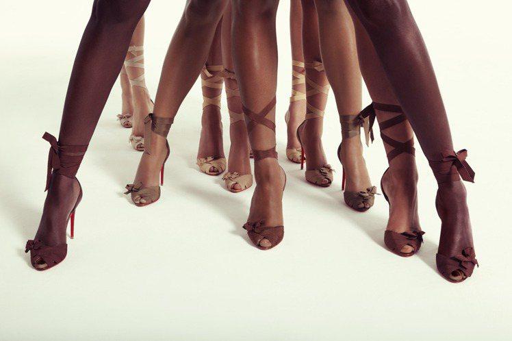 Nudes系列打造出別具張力的視覺。圖/Christian Louboutin提...