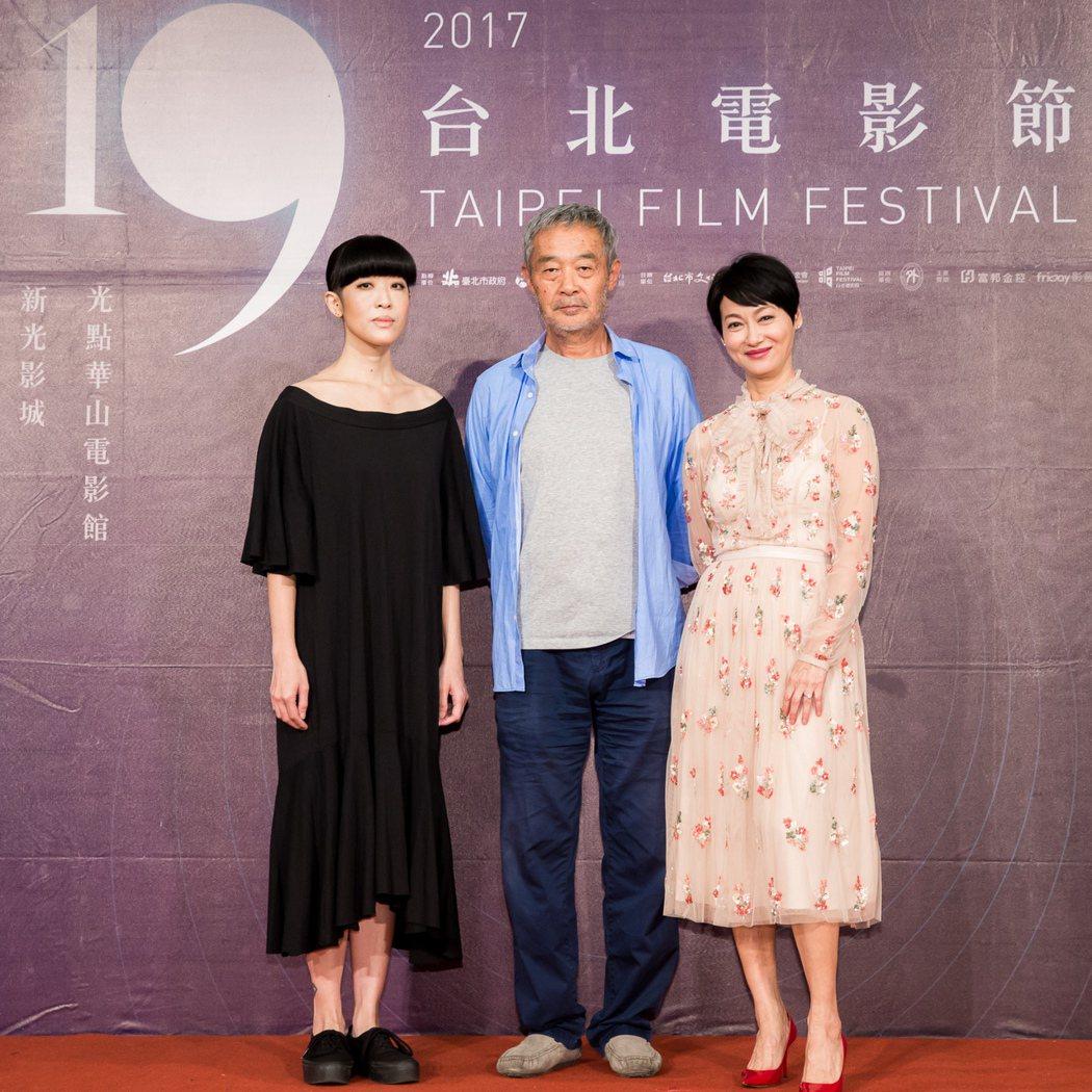 陳珊妮(左起)、評審圖主席田壯壯以及惠英紅。圖/台北電影節提供