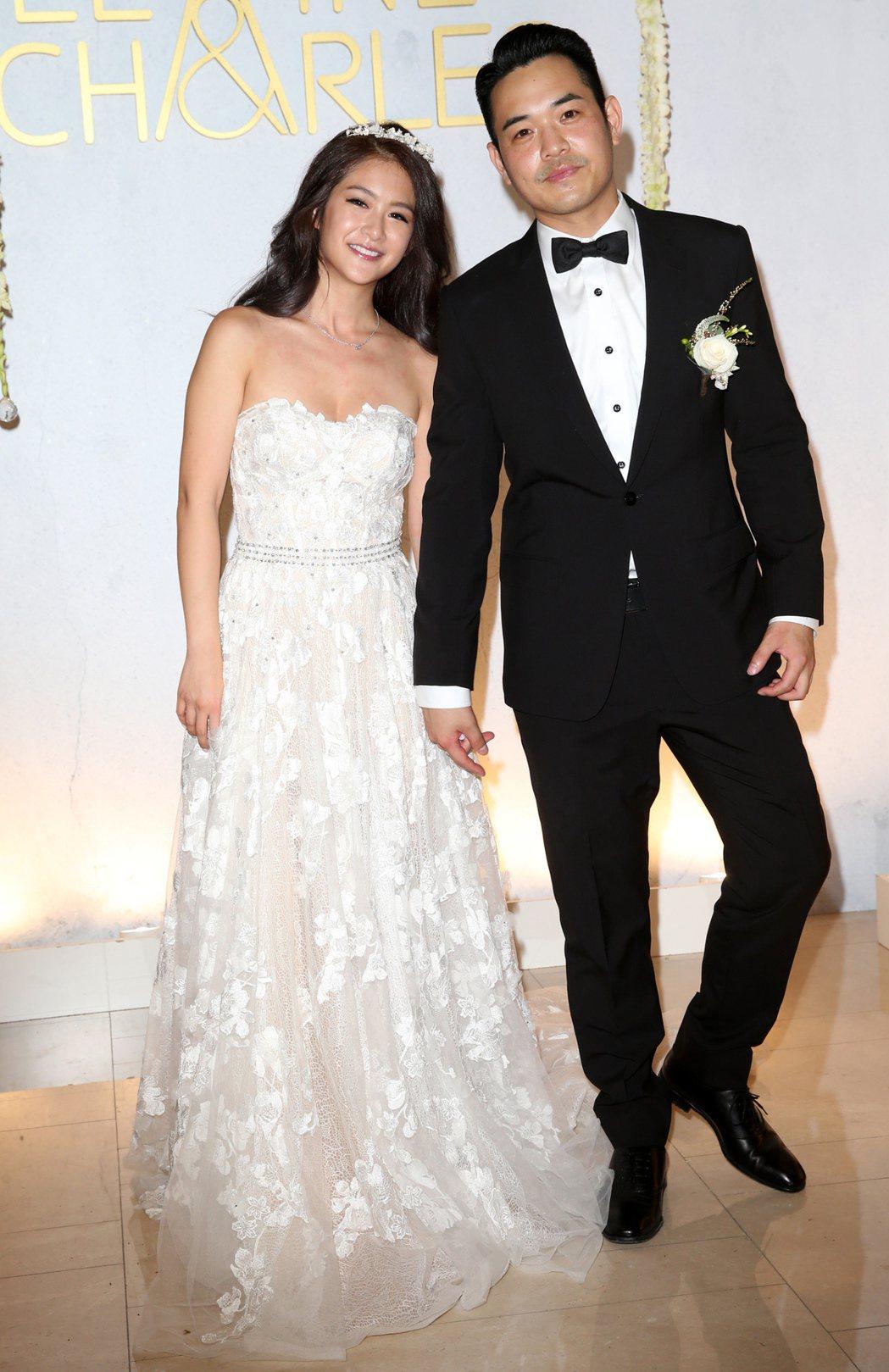 女星安以軒的表妹向以丞和愛情長跑的未婚夫Charles舉行婚禮。記者徐兆玄/攝影