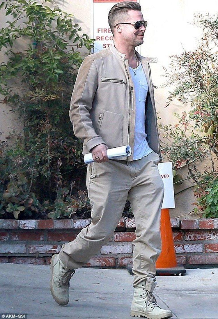 布萊德彼特穿著PALLADIUM鞋履輕盈帥氣。圖/PALLADIUM提供