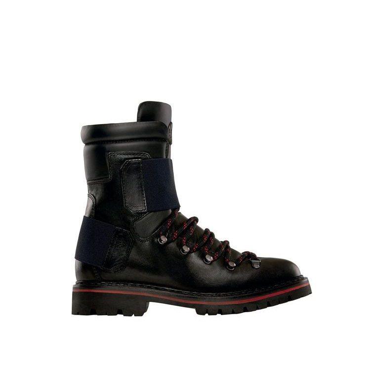MONCLER秋冬女靴靈感來自登山鞋。圖/MONCLER提供