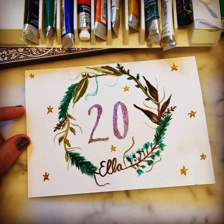 泰勒絲親手做蘿兒的生日卡片。圖/擷自instagram