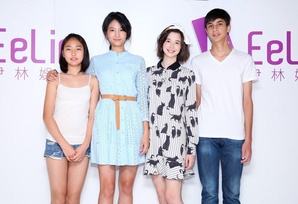 陳詠芯(左)帶12歲妹妹,金凱德的弟弟也來參賽。圖/伊林提供