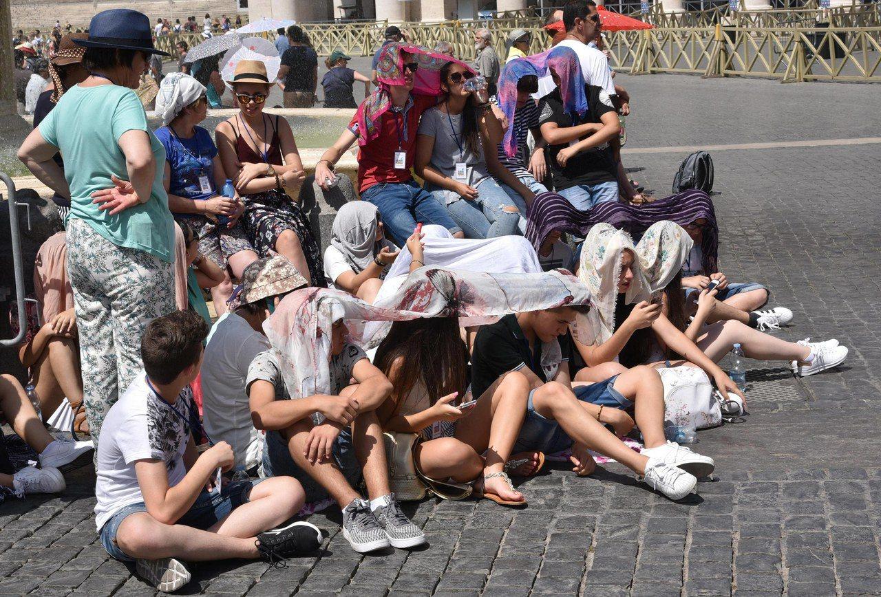 義大利羅馬目前正處酷夏。 (歐新社)