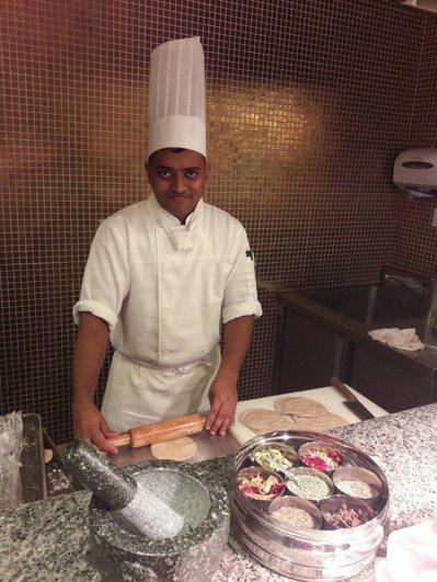 新竹豐邑喜來登大飯店找來印度的Manash師傅,主打印度料理。圖/豐邑喜來登提供