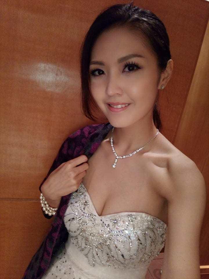 香港女星陳庭欣有「蜜桃胸」之稱號。圖/摘自臉書
