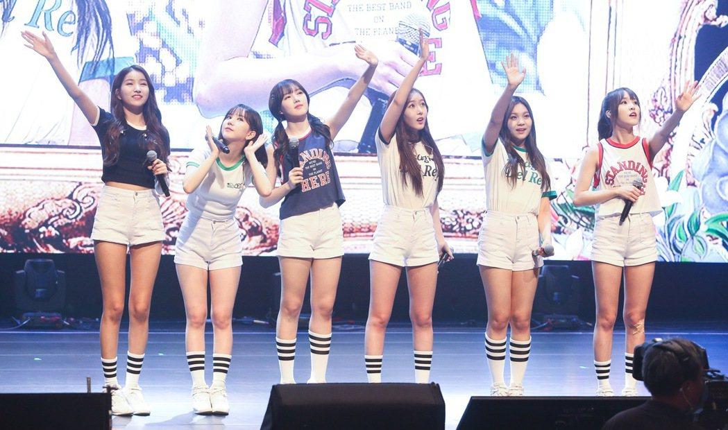 韓國女團GFRIEND今天在台北舉辦演唱會。記者黃威彬/攝影