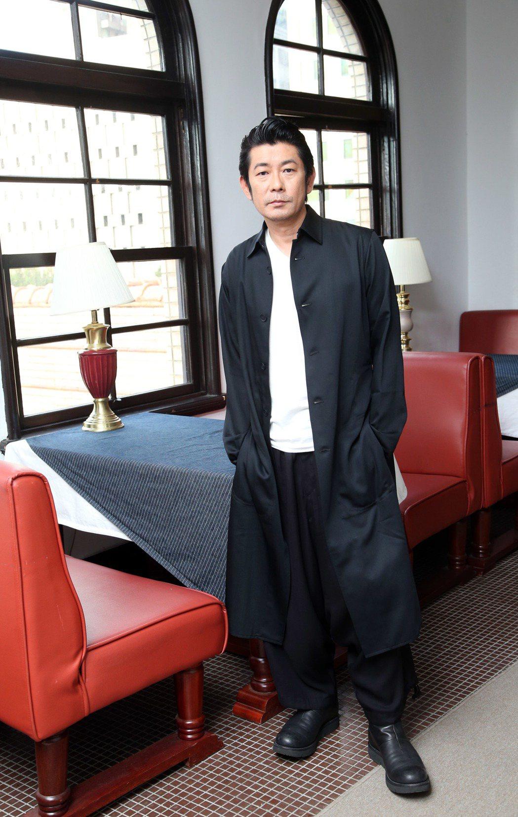 永瀨正敏為新電影「光」來台宣傳。記者陳瑞源/攝影
