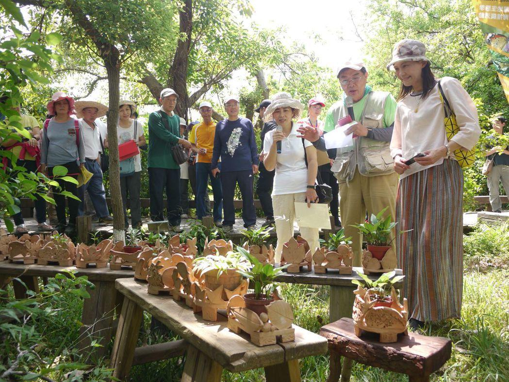 響應世界環境日,高雄鳥會在鳥松濕地公園舉辦環境藝術季。 記者徐白櫻/攝影