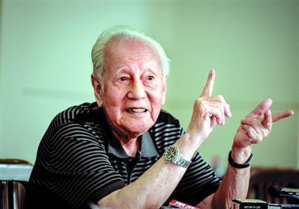 中國核潛艇之父、高齡93歲的黃旭華。 圖/摘自楚天都市報