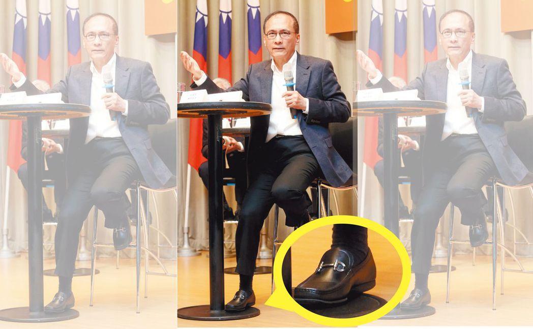 行政院長林全買過20雙同品牌的鞋子。 報系資料照