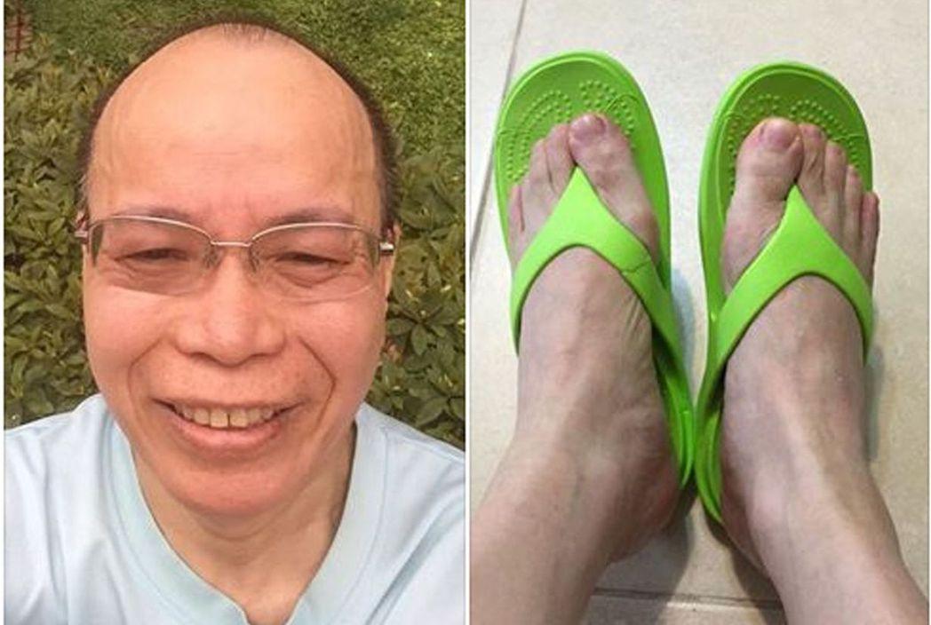 政務委員張景森熱愛夾腳拖,曾貼文呼籲列為正式服裝。 取自張景森臉書