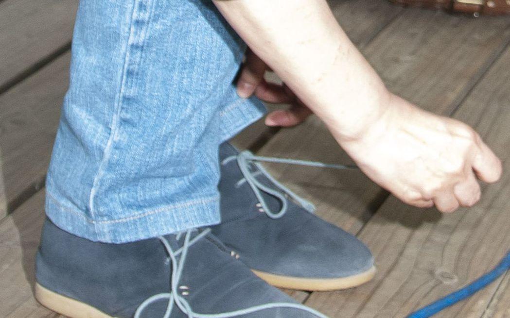 蔡英文的穿搭一向簡約,鞋子的搭配也走低調風格。 報系資料照
