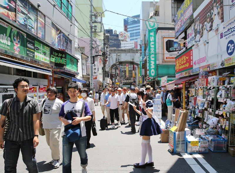 日本東京秋葉原街景。聯合報系資料照/記者陳易辰攝影