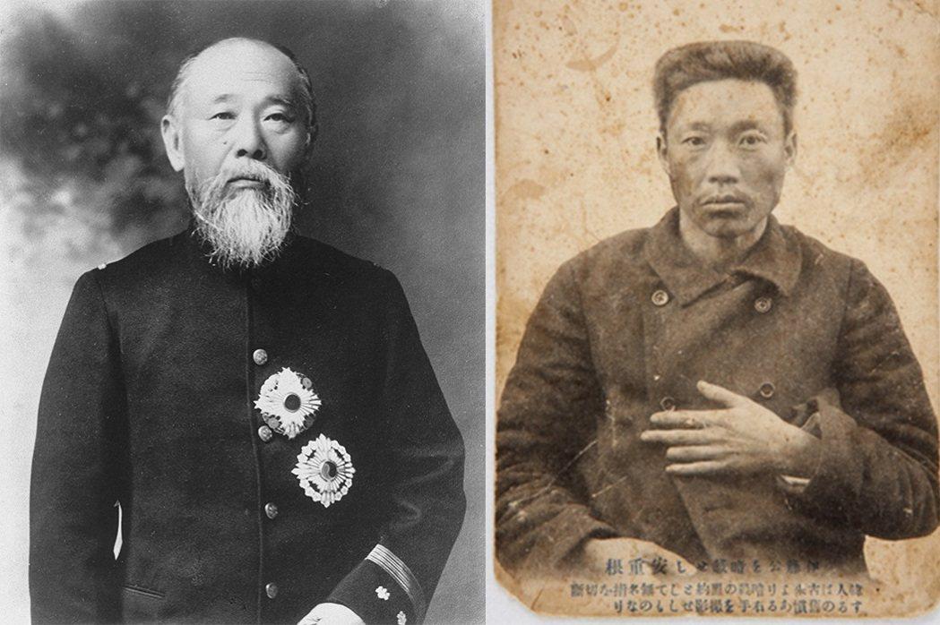 左:伊藤博文不僅是簽訂《馬關條約》的日方代表,也曾經擔任設立於韓國的日本「統監府...