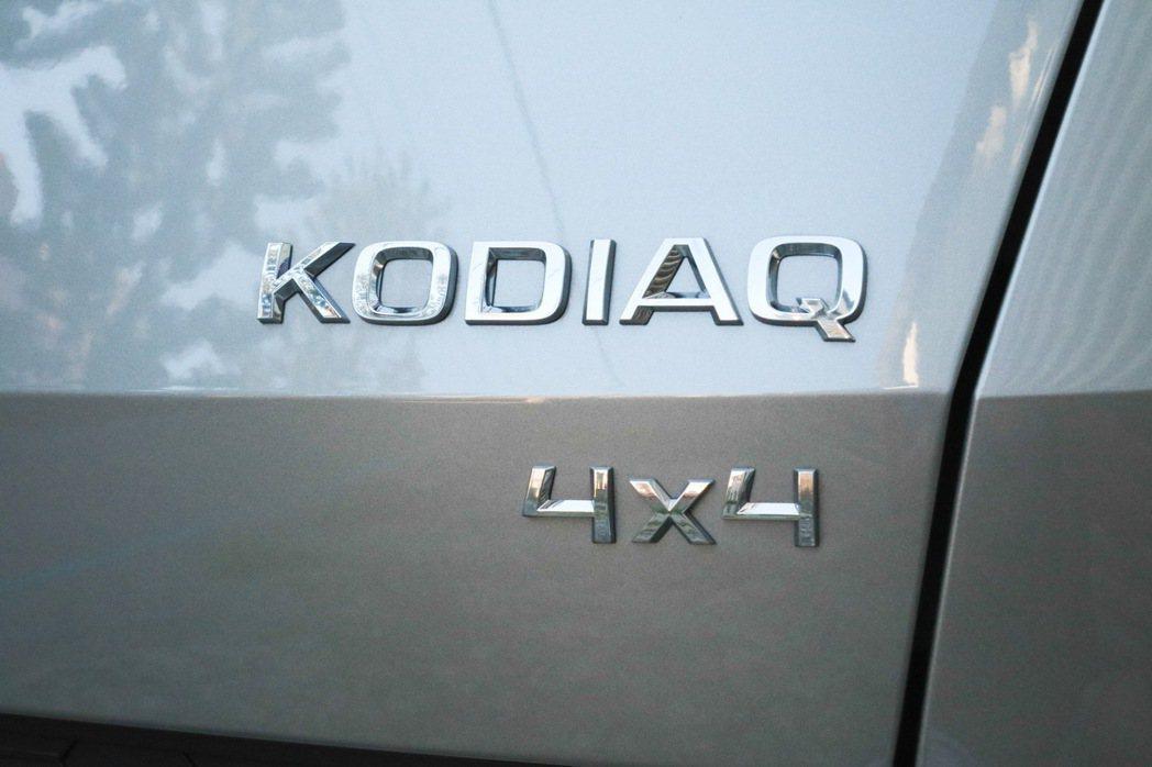 KODIAQ車尾的4X4字樣。 記者史榮恩/攝影