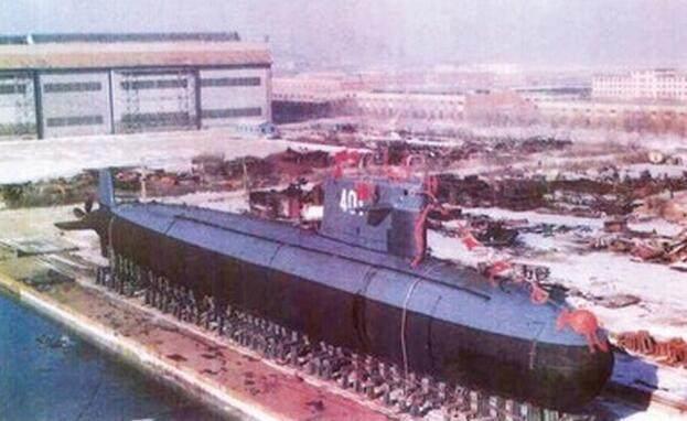 大陸首艘核子動力潛艦「長征一號」下水儀式。 圖/摘自百度