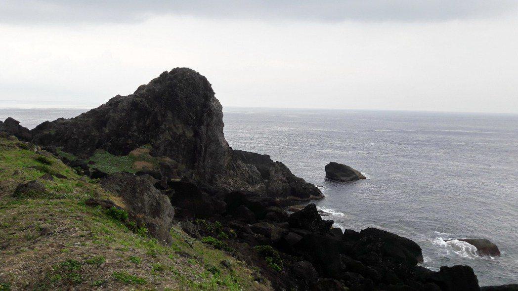 蘭嶼象鼻岩。記者李蕙君/攝影