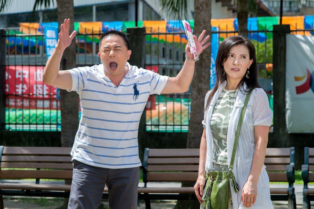 馬幼興(左)在「一家人」中誇張演出甘草人物。圖/三立提供