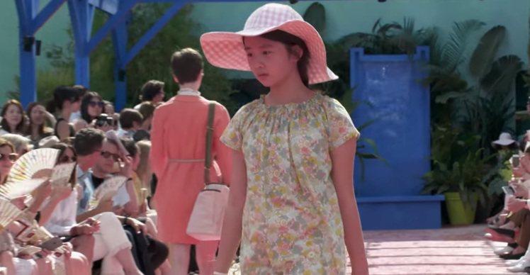 黃磊的女兒黃憶慈(綽號黃多多)是Bonpoint秀場上的固定班底。圖/摘自Bon...
