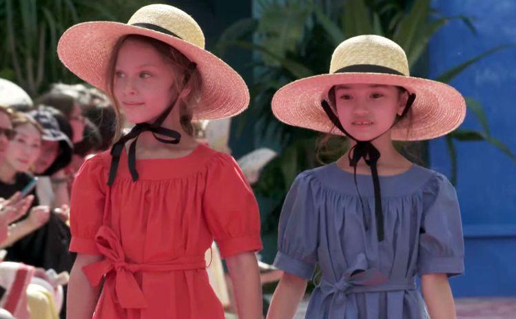 Bonpoint 2018夏日系列,以60年代風情搭配飽和色設計為主題,小小模特...