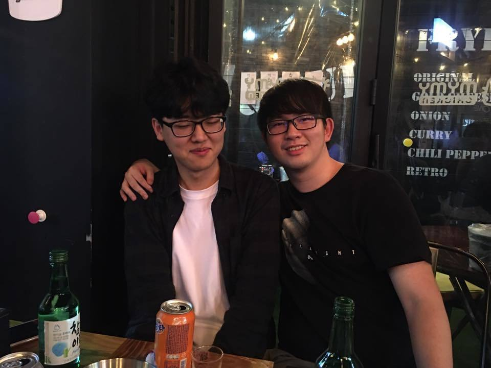🔼曾經旅台加入閃電狼的世界知名韓國選手Parting和台灣選手都有著不錯的交情