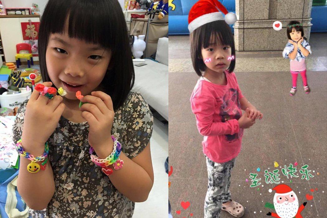 左圖為萁萁大女兒黃太后;右圖為小S女兒許老三。 圖/許老三粉絲團、萁萁的黃三寶臉...