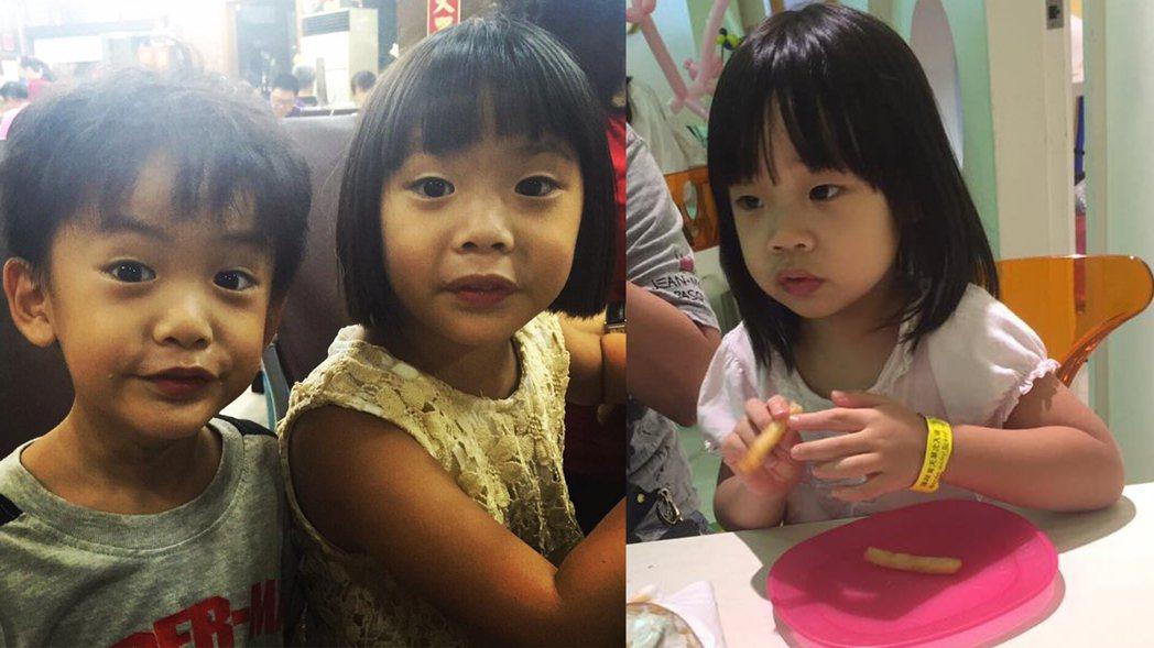 左圖為萁萁大女兒黃太后;右圖為小S女兒許老三。 圖/許老三粉絲團、萁萁的黃三寶臉