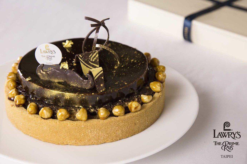 鏡面巧克力蛋糕 圖/勞瑞斯餐廳
