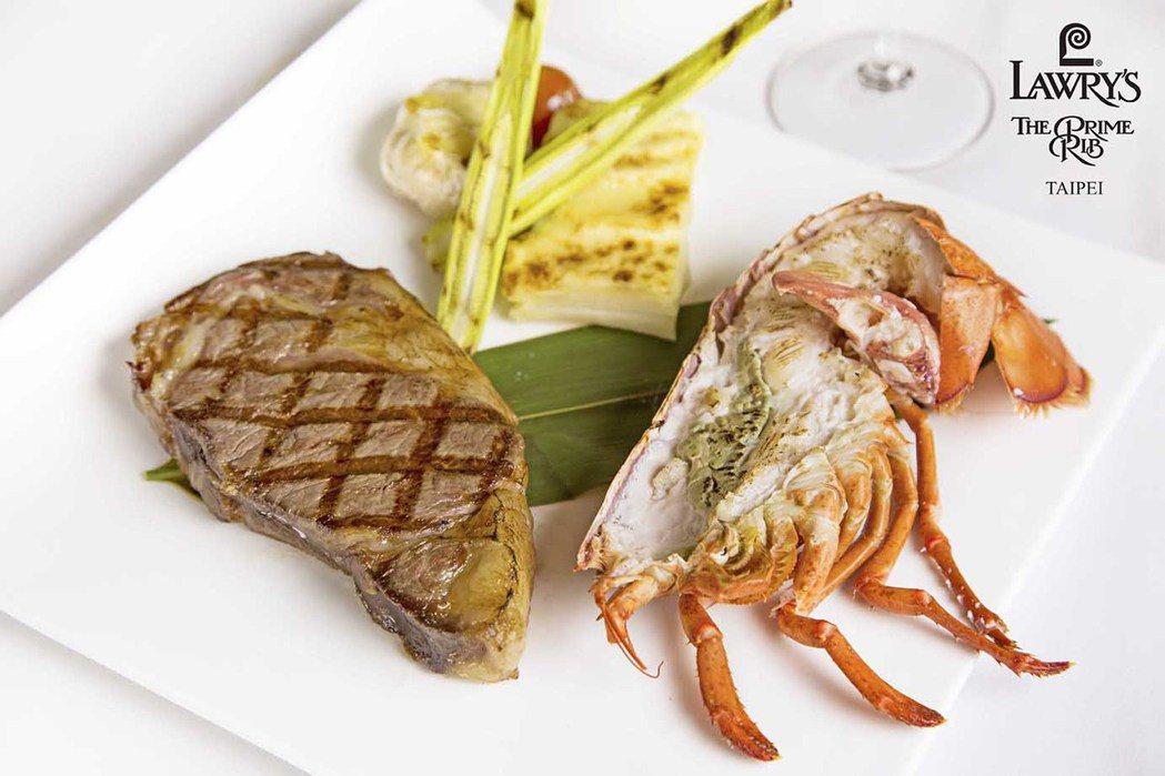 頂級28天乾式熟成牛排佐半尾龍蝦12oz 圖/勞瑞斯餐廳