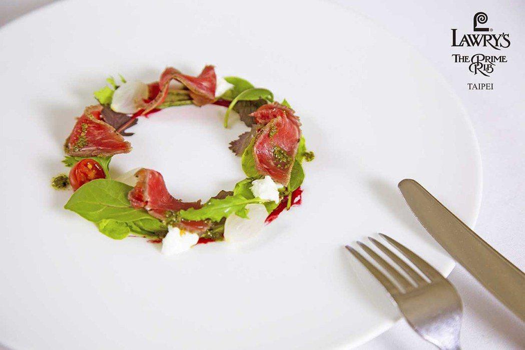 乾式熟成生牛肉佐瑪札瑞拉起司 圖/勞瑞斯餐廳