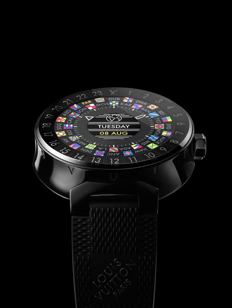 全新的路易威登Tambour Horizon智能表,承襲品牌精神是首款為旅人量身...