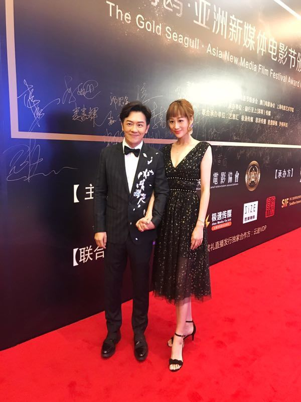 陳浩民與老婆一起出席電影活動。圖/艾迪昇提供