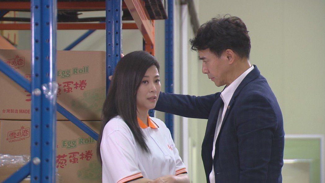 方馨和翁家明暌違3年再合作,拍8點檔也有鐵柱咚。圖/民視提供