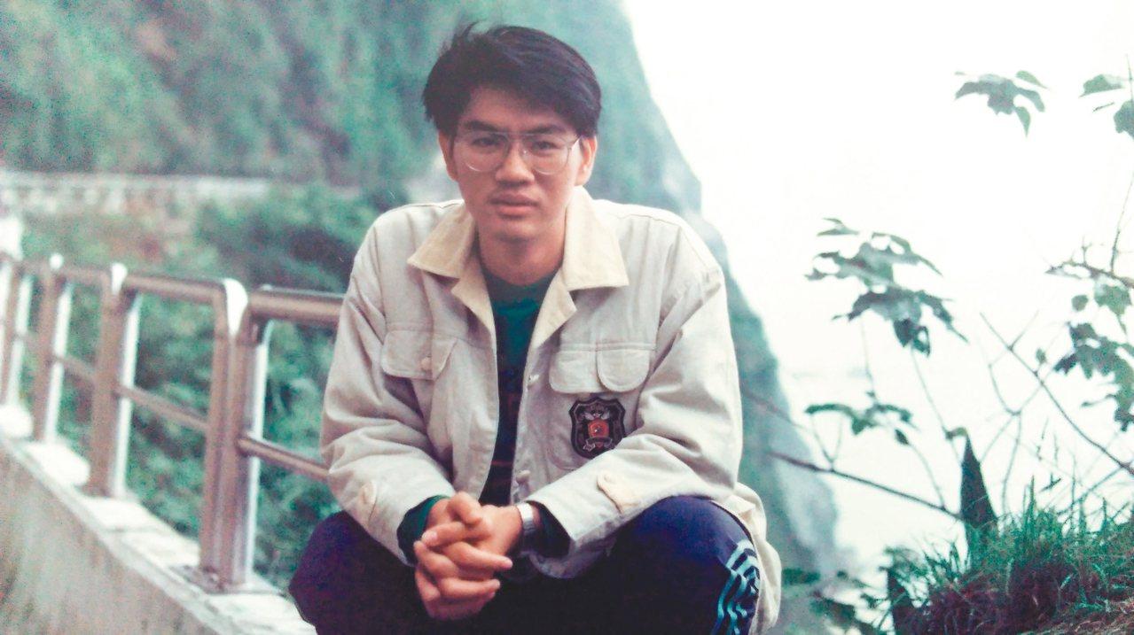 李長青高中時,父親為他拍下的照片。 李長青  圖片提供
