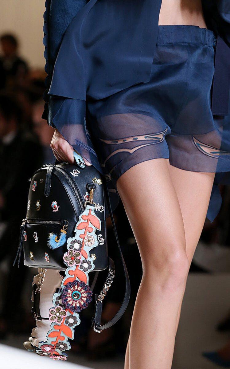 Fendi短褲也運用透視元素製造層次感。圖/Fendi提供
